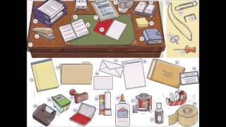 Office supplies and stationary video - English basics lesson