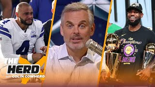 Colin reacts to LeḂron James & Lakers' NBA Title win, talks Dak Prescott's ankle injury | THE HERD