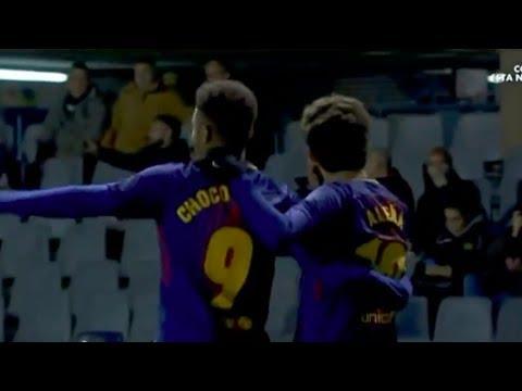 Carles Alena & Jose Arnaiz goals vs Sporting Gijon | Barcelona B, 2017