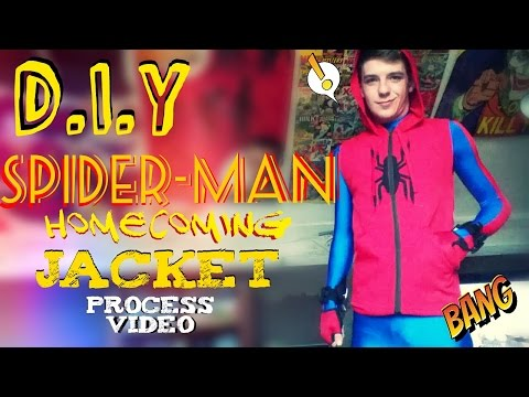 How to Make A Spider-man Homecoming Starter Jacket & Symbol  | Process Video