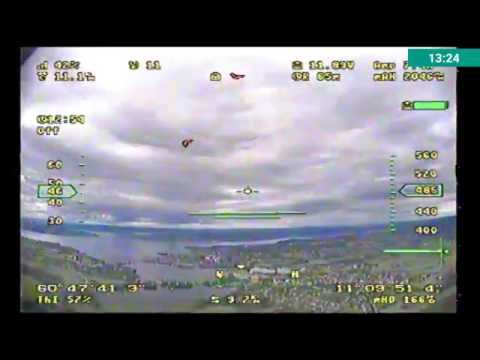 Maxi Swift FPV to 11 km. Frsky L9R and Flytron 11db patch antenna on Taranis
