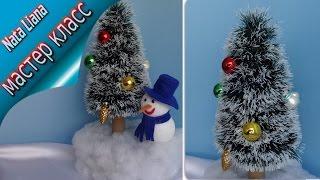 ЕЛКА из мишуры. Новогодняя поделка, Часть первая./ Christmas tree /
