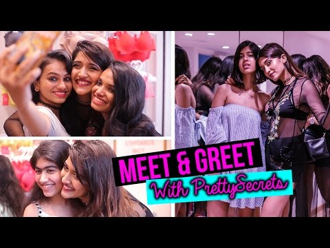 MEET & GREET!! | PrettySecrets store launch along with Sejal