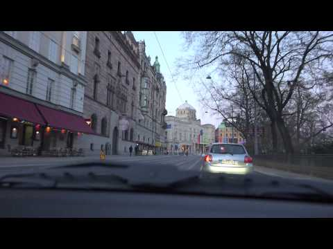 [4k] City tour of Stockholm, Sweden in 4k Ultra HD in a Pors