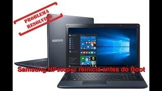 Notebook Samsung reiniciando sozinho antes do boot - Resolvido