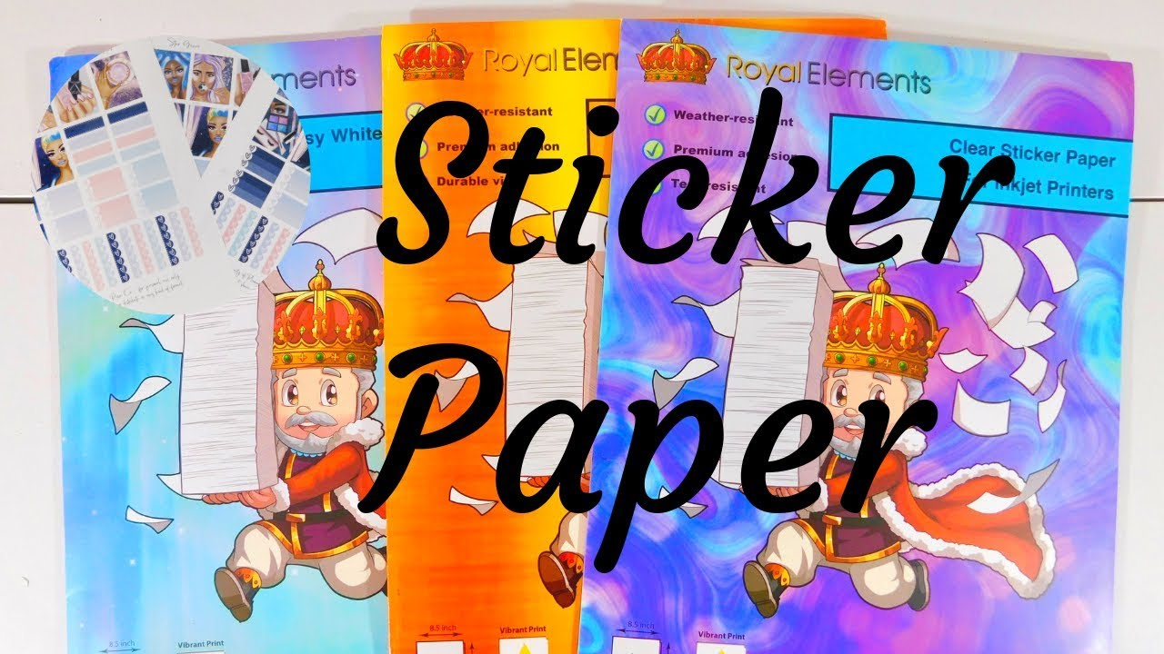 Sticker Paper For Printable Stickers ( Glossy, Matte & Clear)