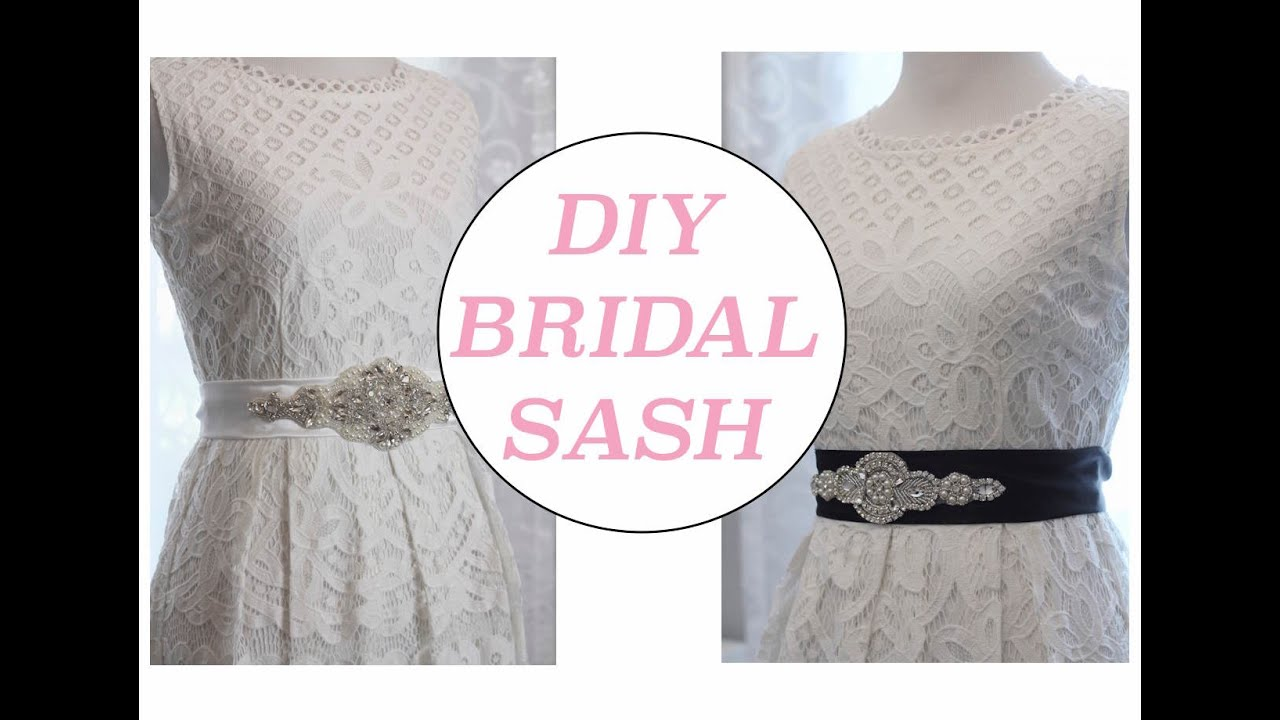 Diy bridal sash youtube diy bridal sash solutioingenieria Images