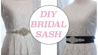 DIY Bridal Sash