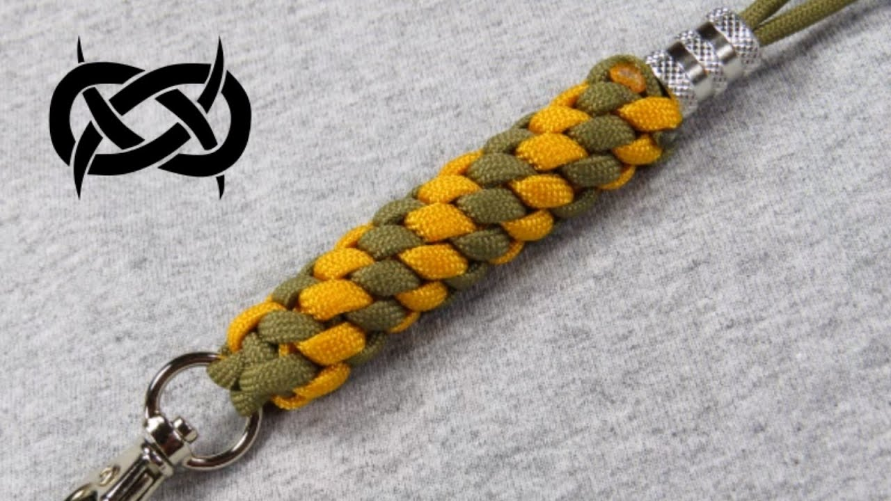 How to make a 4 Strand Crown Braid ID Lanyard Tutorial (Paracord 101)