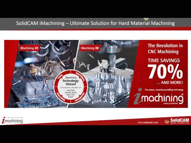 Kesimi Zor Malzemeler için iMachining & HSM