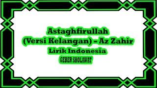 Astaghfirullah Az Zahir Versi Kelangan Lirik Indonesia Voc Yan Lucky Aditya