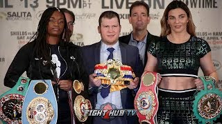 CLARESSA SHIELDS VS CHRISTINA HAMMER - THE FULL NEW YORK OFF PRESS CONFERENCE & FACE OFF VIDEO