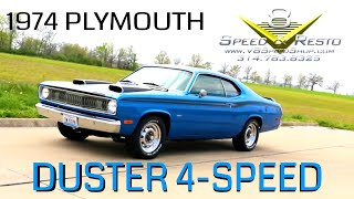 1974 Plymouth Duster Restomod Video V8TV V8 Speed & Resto Shop