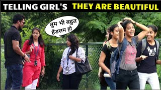Telling girls, They Are Beautiful | complementing cute girls | 3 jokers