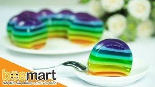 Hướng dẫn cách làm thạch cầu vồng (Rainbow Jelly) - BEEMART