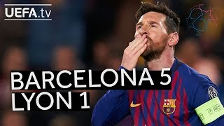 BARCELONA 5-1 LYON #UCL HIGHLIGHTS