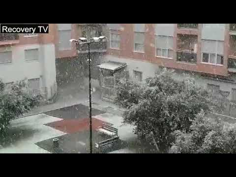 Snow Fall in Logroño Spain by Mrs. Rehman