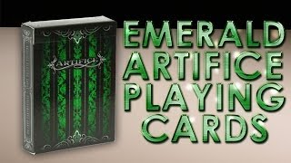 Deck Review  - The Artifice Deck Emerald Second Edition Playing Cards