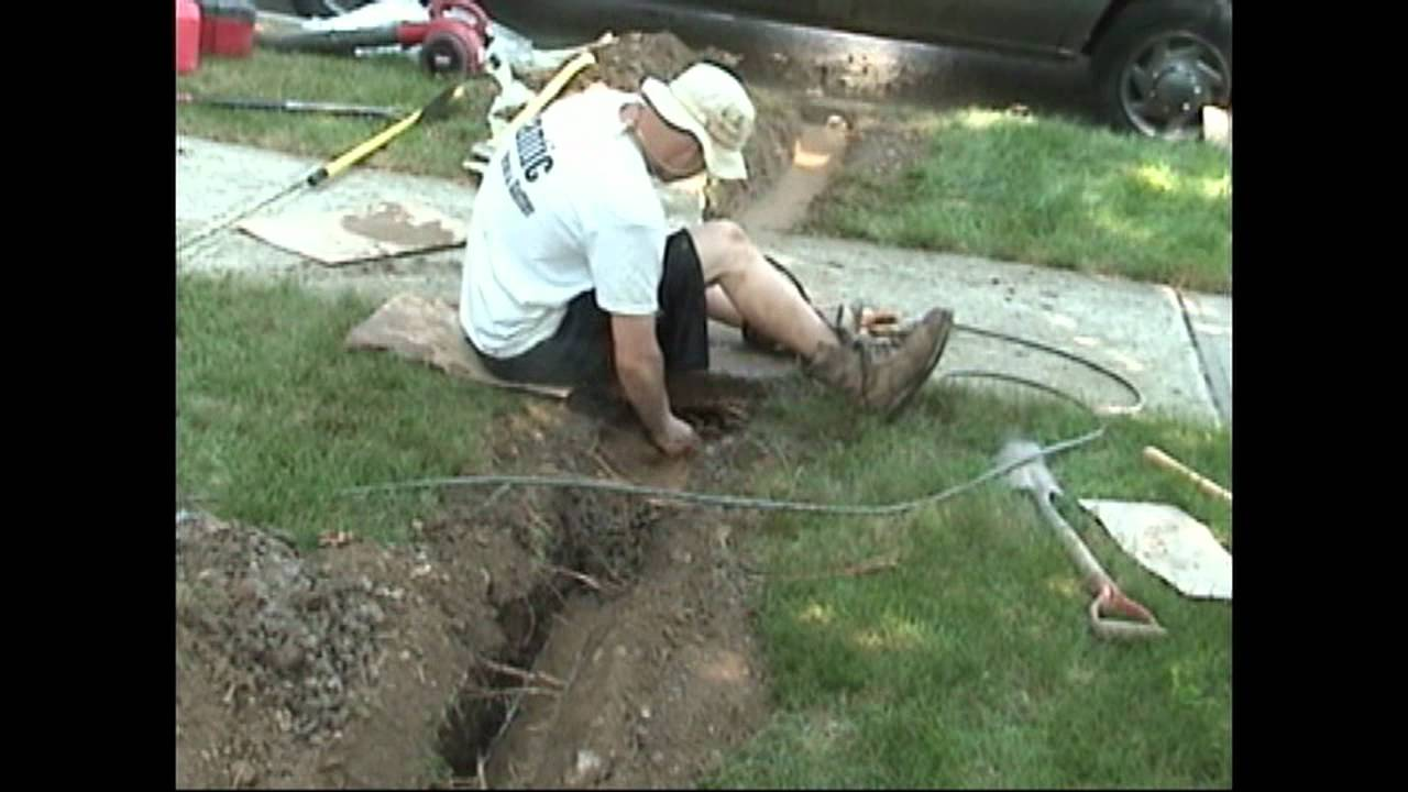 Atlantic Drain ~ howto SIDEWALK TUNNEL ~ Install Downspout ...