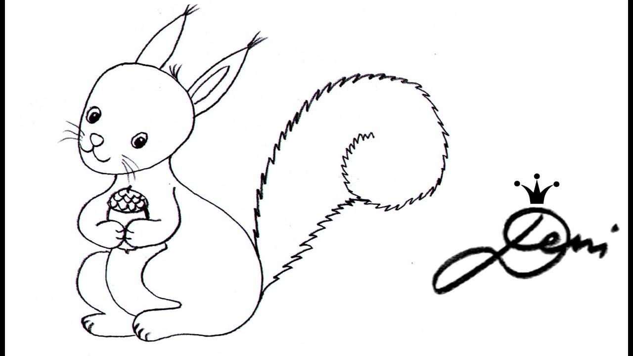 Eichhörnchen Schnell Zeichnen Lernen How To Draw A Squirrel