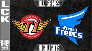 SKT vs Afreeca Freecs Highlights All Games- LCK Week 8 Day 2 Spring 2017 SKT vs AFs All Games