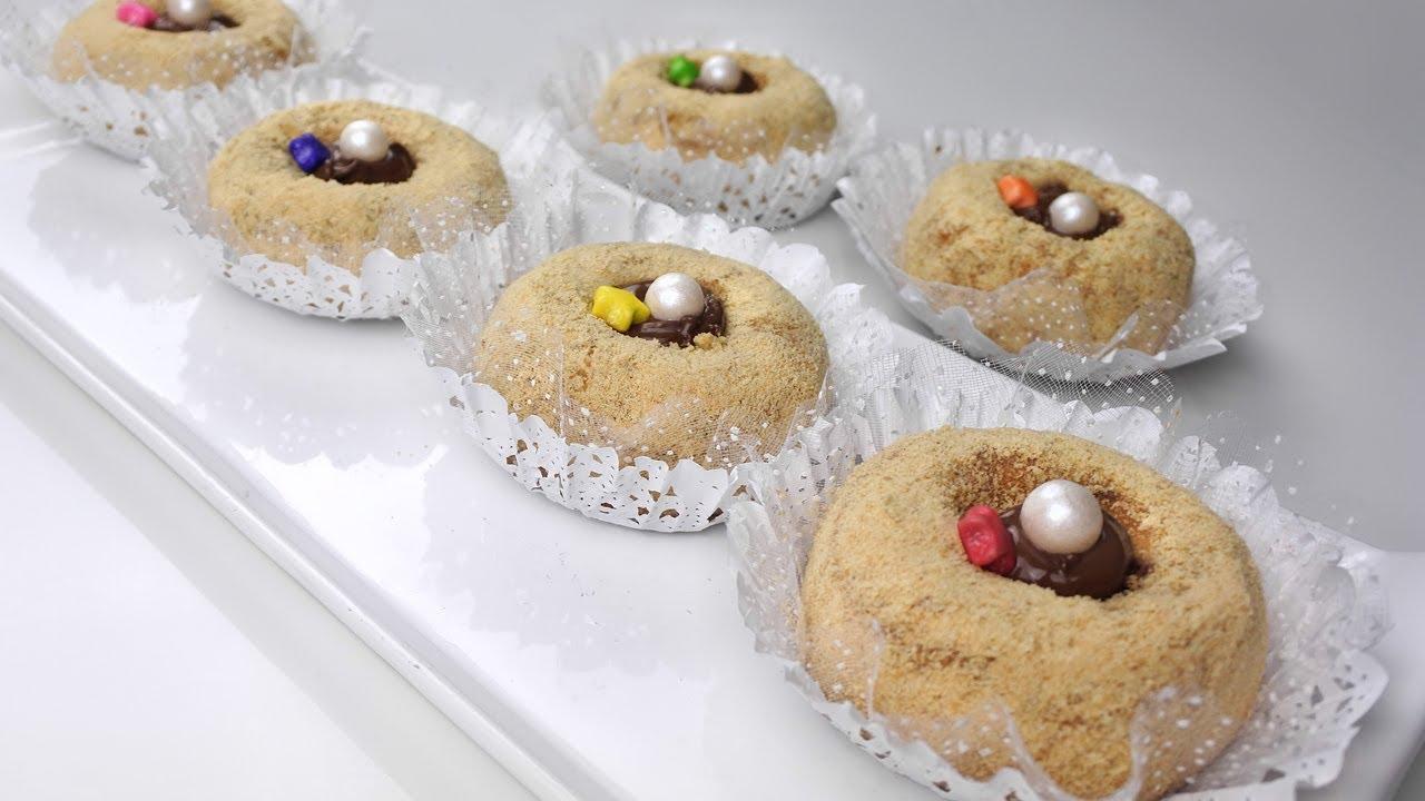 حلويات سهلة وسريعة حلوة جافة بالبيمو هشيشة تذوب في الفم - طبخات ياسمين