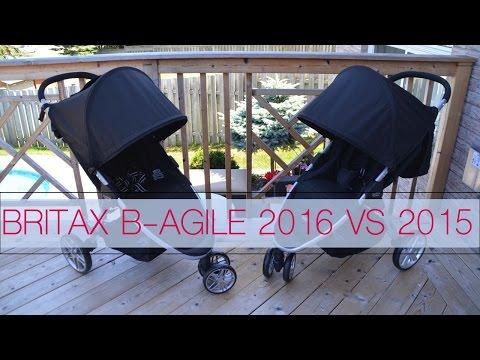 Stroller Comparison ~ Britax B Agile 2015 Vs 2016