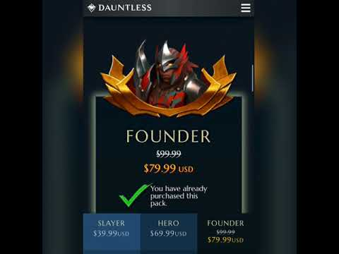 Dauntless Founder's Packs! UPDATED