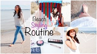 STYLING ROUTINE - Natural Beach Makeup, Haare, Outfit | Mamiseelen