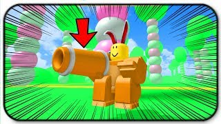 Becoming A Giant Chocolate Easter bunny With A Carrot Cannon - Roblox Rabbit Simulator 2