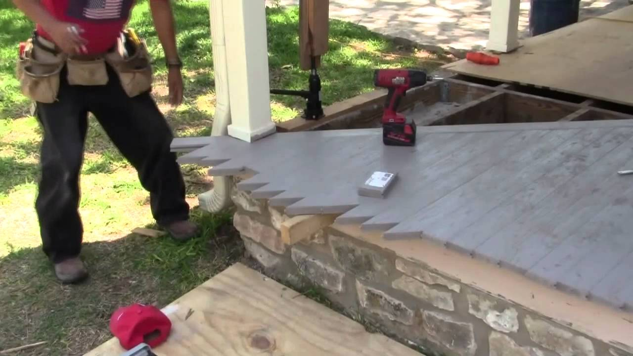 How to install porch floors video 2 youtube - Tongue and groove exterior decking ...