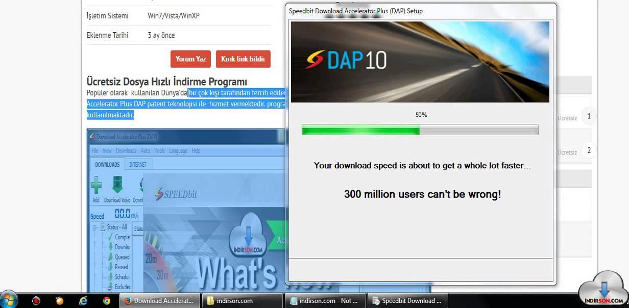 Download Accelerator Plus kullanım kurulum