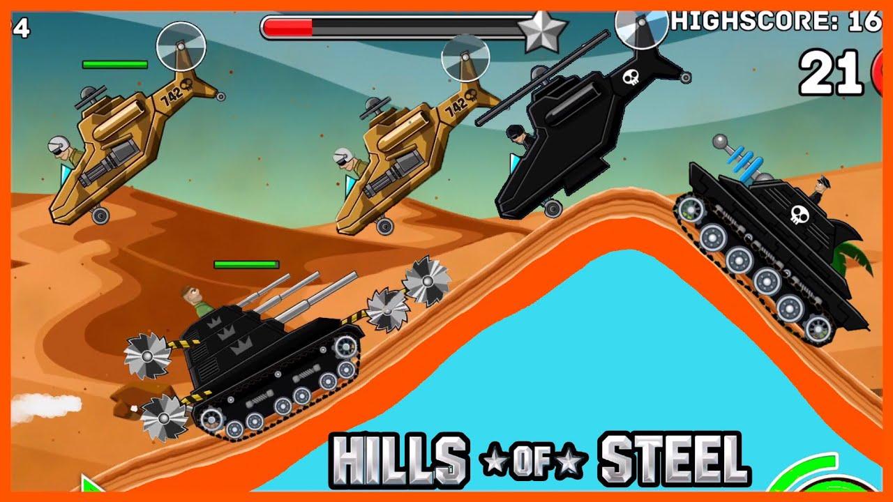 Titan Tank|Funny Tank|Hill Of Steel|Game Xe Tăng|Xe Tăng Bắn Máy Bay Trên Sa Mạc