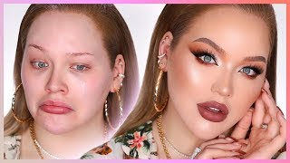 EXTREME HOLIDAY MAKEUP TRANSFORMATION!