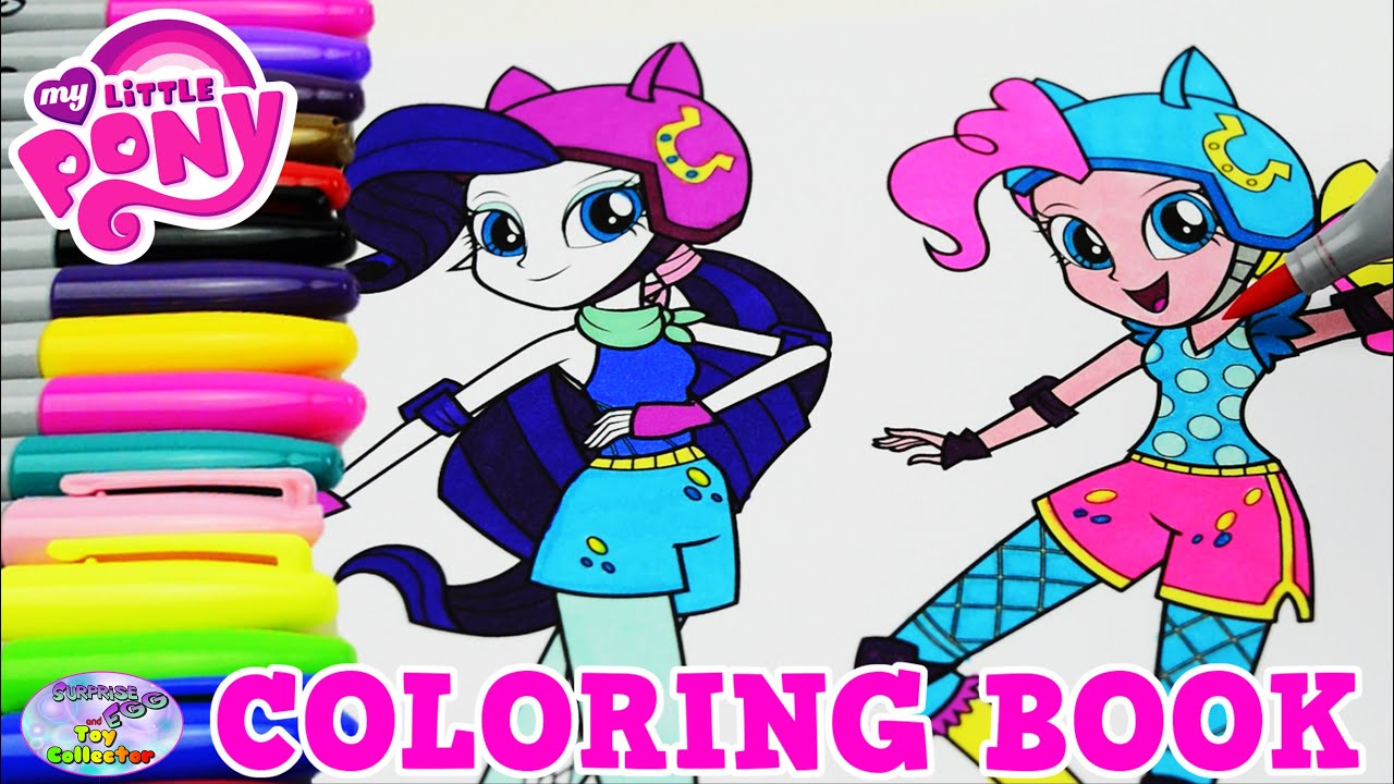 My Little Pony Coloring Book Pinkie Pie Rarity MLP EG Episode