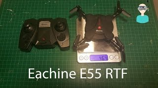 Eachine E55 Mini WiFi FPV Foldable Pocket Drone Unboxing And Review