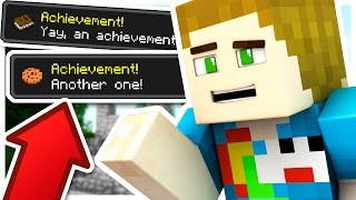 HOW FAST CAN I COMPLETE ALL THESE ACHIEVEMENTS?! - Sky Realms Minecraft