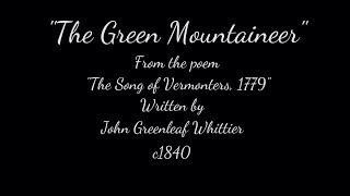 THE GREEN MOUNTAINEER - c.1840 - Performed by Tom Roush
