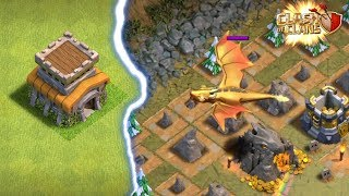 TOWNHALL 8 VS GIANT DRAGON | Dragon's Lair Goblin Map | Clash of Clans |