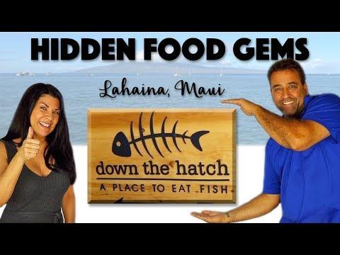 HIDDEN FOOD GEMS HAWAII | DOWN THE HATCH | Lahaina Maui