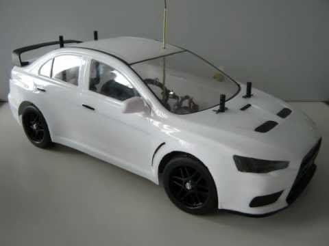 Rc Mitsubishi Lancer Evolution X Launching Official Wmv
