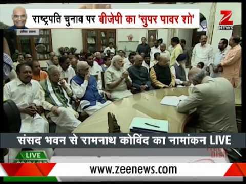 Presidential Polls: Ram Nath Kovind's paper nomination filing process begins
