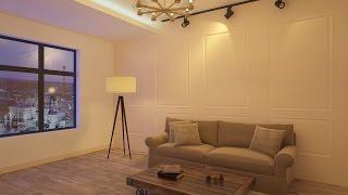 3D Max. Принцип настройки вечернего освещения интерьера VRay