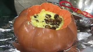 Azerbaijani Pumpkin Pilaf With Lamb, Dried Fruit & Chestnuts