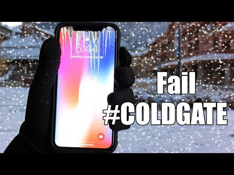 iPhone X Frozen Screen in Cold Weather ?  #COLDGATE