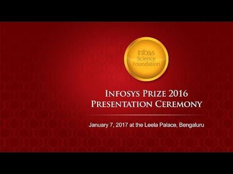 Infosys Prize 2016 Presentation Ceremony - Live