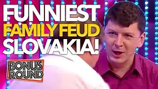 FUNNIEST & Most Viewed Family Feud Slovakia Andrej Bičan ( 5 Proti 5)