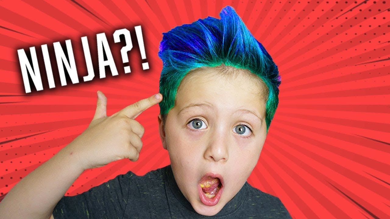 Dying My Hair Blue Ninja Hair Youtube