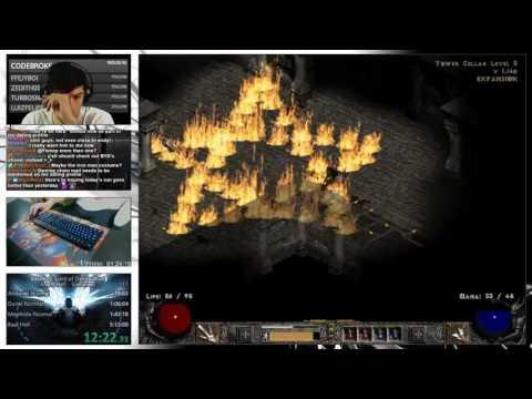 Diablo 2 - Hell Hardcore Sorceress - Day 2 - HIGH ENERGY (Wait For it)
