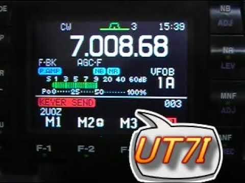 Ukrainian DX Contest  2009 - 7MHz CW - QRP 5W / Dipole